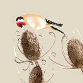 Petronella Hall Goldfinch Birch Wallpaper
