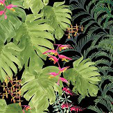 Petronella Hall Tropics Emerald / Lime Wallpaper - Product code: T-WE