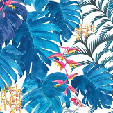 Petronella Hall Tropics Denim Wallpaper