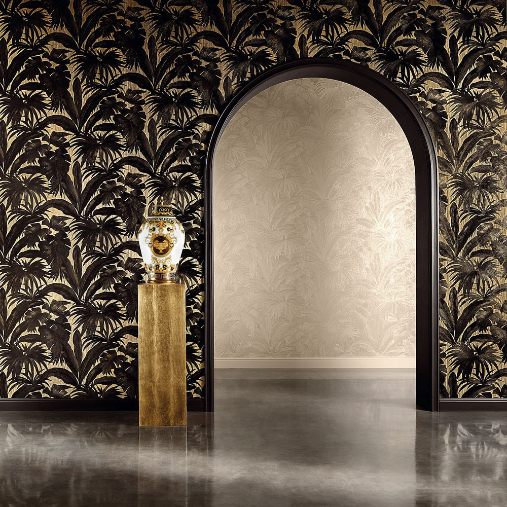Giungla By Versace Black Gold Wallpaper Wallpaper