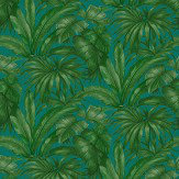 Versace Giungla Green / Teal Wallpaper