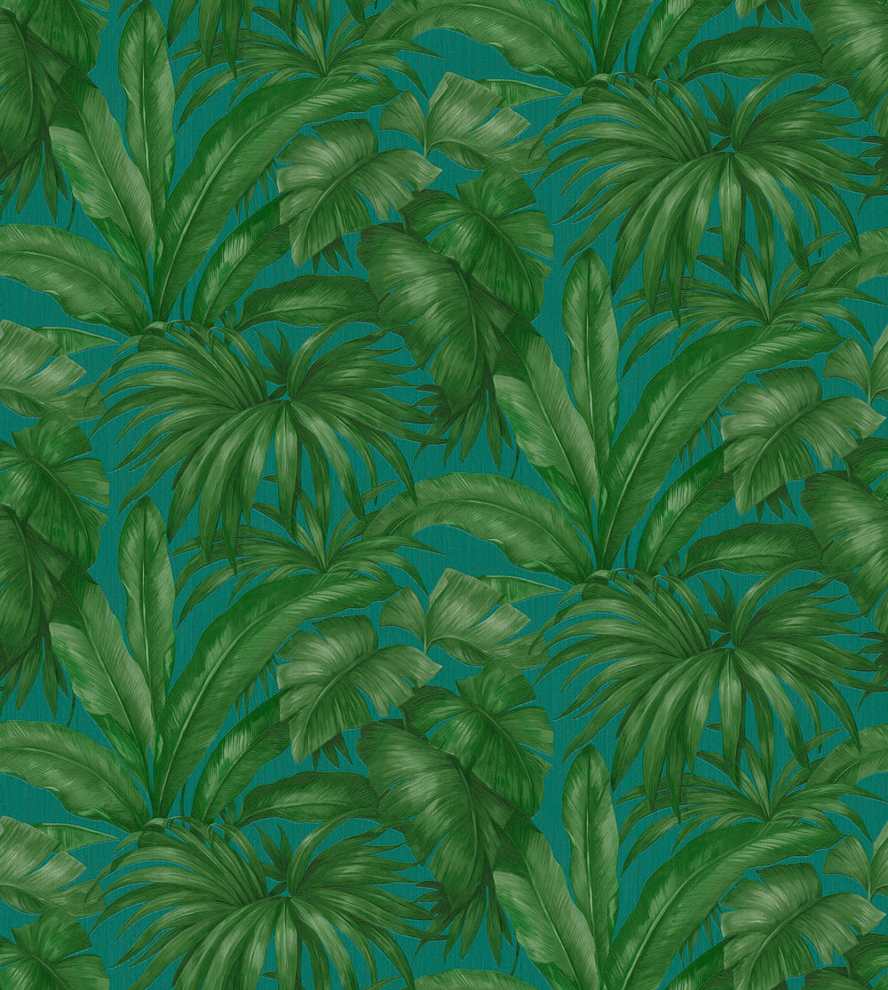 Versace Giungla Green / Teal Wallpaper main image