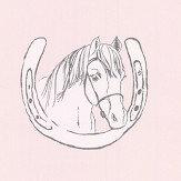 Katie Bourne Interiors Horse Tales Pink Wallpaper