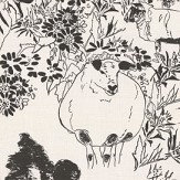 Belynda Sharples Linen Union Sheep 01 Black / White Fabric - Product code: BS-LU-SHE-01