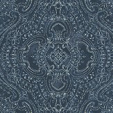 Linwood Labyrinth Indigo Wallpaper