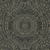 Linwood Labyrinth Black Diamond Wallpaper