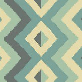 Linwood Amala Teal Wallpaper