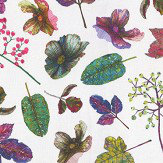 Osborne & Little Woodland Purple / Green Fabric - Product code: F7012/01