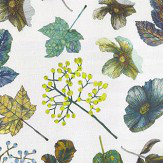 Osborne & Little Woodland Forest / Mint / Chartreuse Fabric - Product code: F7012/02