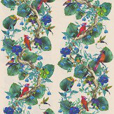 Osborne & Little Rain Forest Multi-coloured / Apple Green Fabric