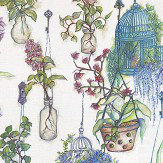 Osborne & Little Hanging Garden Lavender Fabric - Product code: F7014/03