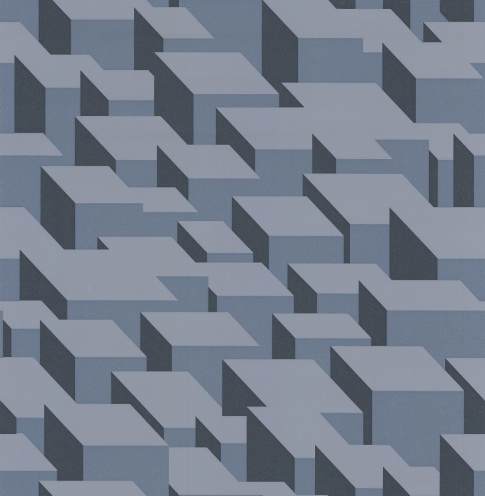 Kirkby Design.com Cubic Bumps Steel Wallpaper - Product code: WK800/01