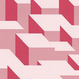 Kirkby Design.com Cubic Bumps Blush Wallpaper