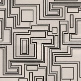 Kirkby Design.com Electro Maze Flock Monochrome Wallpaper