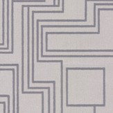 Kirkby Design.com Electro Maze Flock Silver Wallpaper - Product code: WK802/05