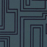 Kirkby Design.com Electro Maze Flock Ink Wallpaper