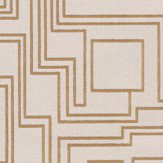 Kirkby Design.com Electro Maze Flock Gold Wallpaper