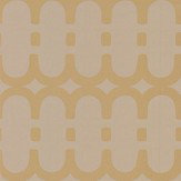 Kirkby Design.com Loopy Link Gold Wallpaper