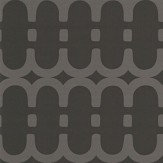 Kirkby Design.com Loopy Link Noir Wallpaper