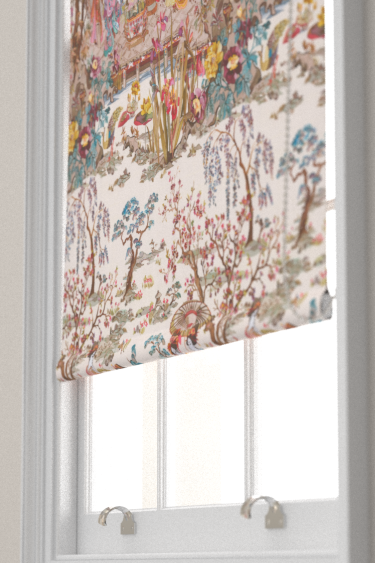 Japanese Garden Blinds By Osborne Little Ochre Mustard Rose Fabric Wallpaper Direct