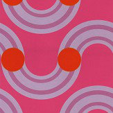 Kirkby Design.com Spot On Waves Flock Raspberry Wallpaper