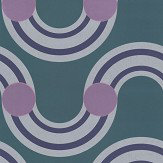 Kirkby Design.com Spot On Waves Flock Teal Wallpaper