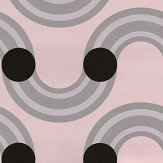 Kirkby Design.com Spot On Waves Flock Powder Wallpaper