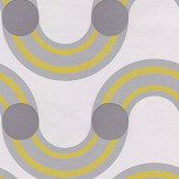 Kirkby Design.com Spot On Waves Flock Sunshine Wallpaper - Product code: WK808/04