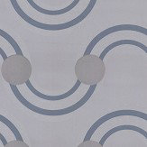 Kirkby Design.com Spot On Waves Flock Steel Wallpaper
