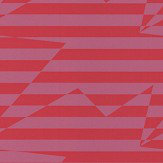Kirkby Design.com Stripey Zig Zag Birds Crimson Wallpaper - Product code: WK809/02