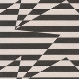 Kirkby Design.com Stripey Zig Zag Birds Monochrome Wallpaper