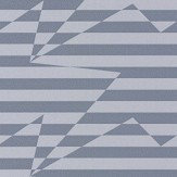 Kirkby Design.com Stripey Zig Zag Birds Steel Wallpaper