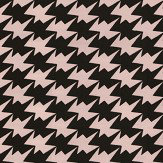 Kirkby Design.com Zig Zag Birds Flock Powder Wallpaper