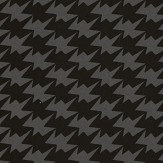 Kirkby Design.com Zig Zag Birds Flock Noir Wallpaper