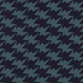 Kirkby Design.com Zig Zag Birds Flock Ink Wallpaper