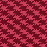 Kirkby Design.com Zig Zag Birds Flock Lava Wallpaper