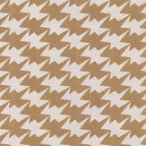 Kirkby Design.com Zig Zag Birds Flock Gold Wallpaper