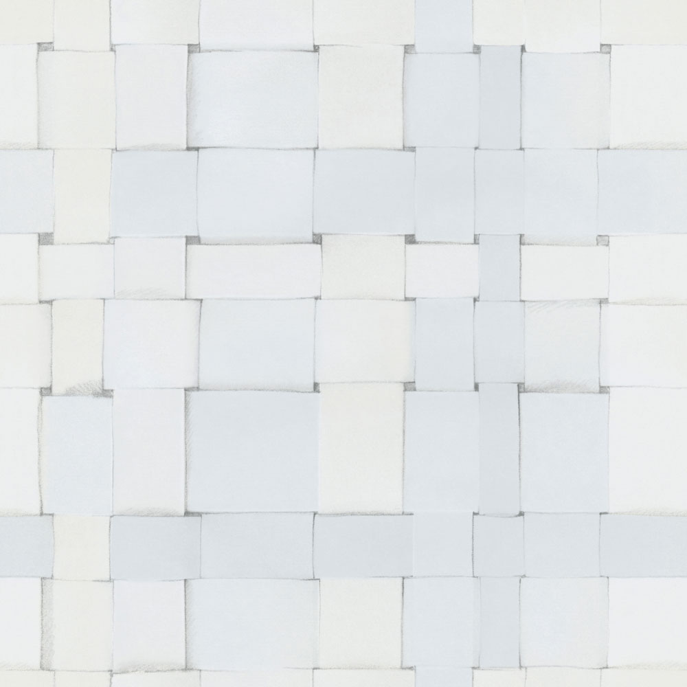 Weave By Engblad Co Cool White Wallpaper 4050