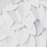 Eco Wallpaper Leaves Cool White Wallpaper