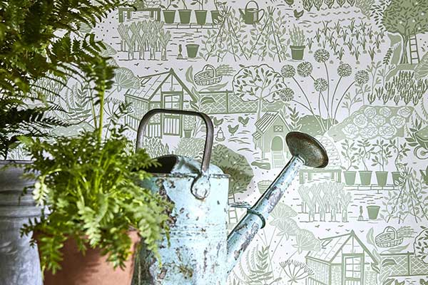 Sanderson The Allotment Fennel Wallpaper