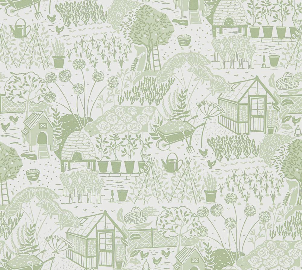 Sanderson The Allotment Fennel Wallpaper - Product code: 216351