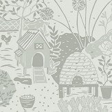 Sanderson The Allotment Dove Wallpaper