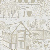 Sanderson The Allotment Linen Wallpaper