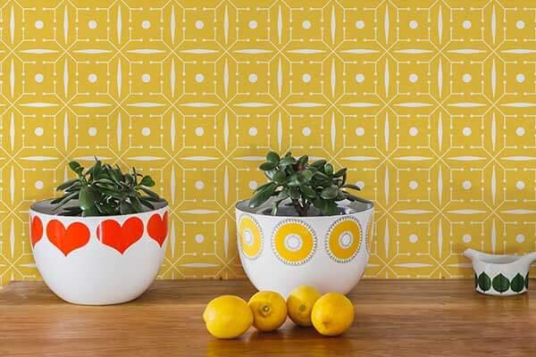 Layla Faye Domino Buttercup Yellow Wallpaper