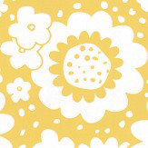 Layla Faye Mod Meadows Buttercup Yellow Wallpaper