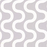 Layla Faye Ripple Silvery Moon Grey Wallpaper