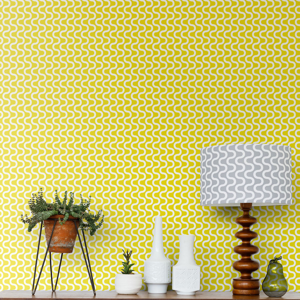 Layla Faye Ripple Buttercup Yellow Wallpaper - Product code: LF1066