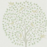 Sanderson Bay Tree Celadon / Flint Wallpaper
