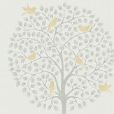 Sanderson Bay Tree Dijon / Mole Wallpaper