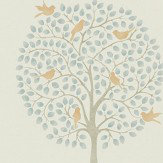 Sanderson Bay Tree Copper / Denim Wallpaper